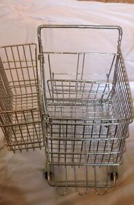 NEW PRICE Vintage Miniature Metal Shopping Cart - Exact Replica!