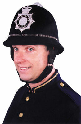 English Bobby Helmet (Morris Costumes Men's New Authentic English Bobby Quality Helmet One Size.)