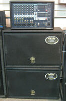 Yamaha Powered PA System w/ 2 Speaker Cabs 2 x 500 Watts!!!
