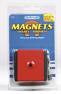 Master Magnetics 07503 Heavy Duty Retrieving Magnet With Shield 2 X 2 X 1