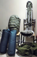 ARMY SURPLUS CAMPING EQUIPEMENT