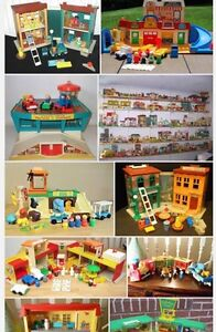 Fisher price play sets and people