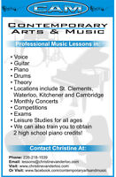 PIANO, GUITAR, VOCAL and DRUM LESSONS