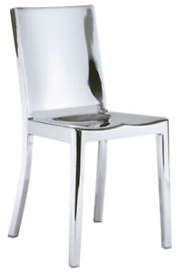 POLISHED STAINLESS STEEL OR GOLD DINING CHAIR COUNTER/BAR STOOL