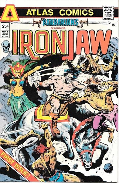 Barbarians Comic Book Featuring Ironjaw #1, Atlas Comics 1975 VERY FINE+