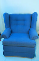 Vintage Blue Wing Back Chair (reduced)