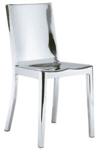 POLISHED STAINLESS STEEL DINING CHAIR COUNTER STOOL BAR STOOL