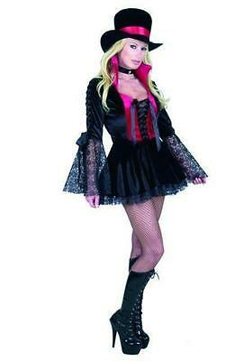 Vampire Princess Gothic Black Red Lace Dress Up Halloween Sexy Adult Costume](Adult Princess Dress Up)