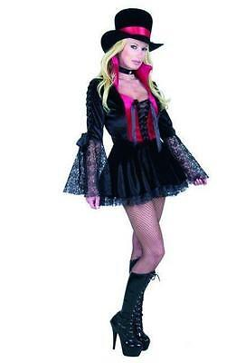 Vampire Princess Gothic Black Red Lace Dress Up Halloween Sexy Adult - Vampire Princess Halloween Costume