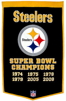 Super Bowl Dynasty Banner - Pittsburgh Steelers 24