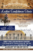 Ladies Confidence Clinic  August 7,8,9, 2015