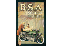 BSA motorcycle vintage poster motor bike poster repro 16x24