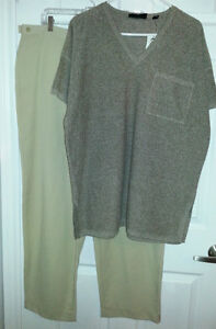 ELLEN TRACY Boucle Knit Top Tunic - Womens Large XL