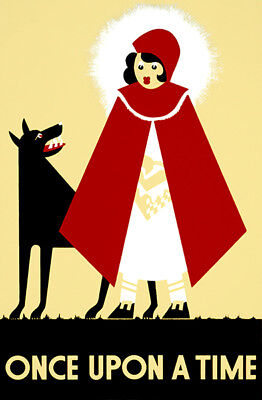 Once Upon A Time - Little Red Riding Hood & A Wolf - 1938 - WPA