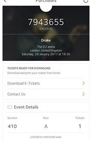Drake 28th January O2 arena London