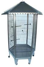 New 6 Sided Large Steel Parrot Aviary Budgie Bird Cage with Wheel Auburn Auburn Area Preview