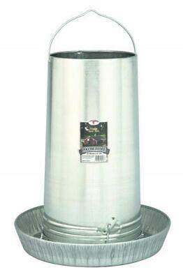 Poultry Chicken 40 Pound Tube Hanging Feeder Space Saver Galvanized Steel