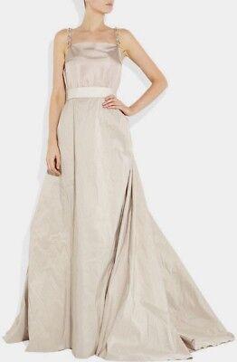 Lanvin Paris Couture Wedding Dress Blush Taffeta Silk Gown Fr 46