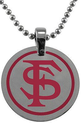 Florida State Seminoles Seminole Pendant - FLORIDA STATE SEMINOLES FSU * Stainless Steel Pendant with School Logo  NCAA NEW