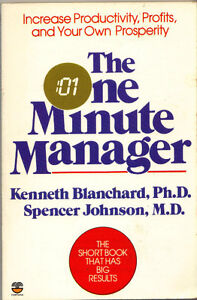 The One Minute Manager - Kenneth Blanchard, Spencer Johnson (Fon West Island Greater Montréal image 1