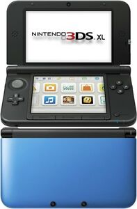 nintendo 3ds XL blue with pen and charger + 2 games