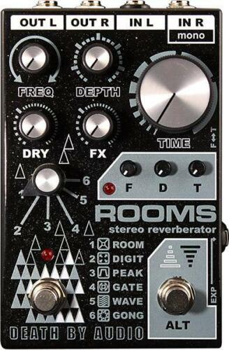 DEATH BY AUDIO Rooms Stereo Reverb Effects Pedal Black - MAKE OFFER!!