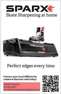 Demo SPARX at home skate sharpener