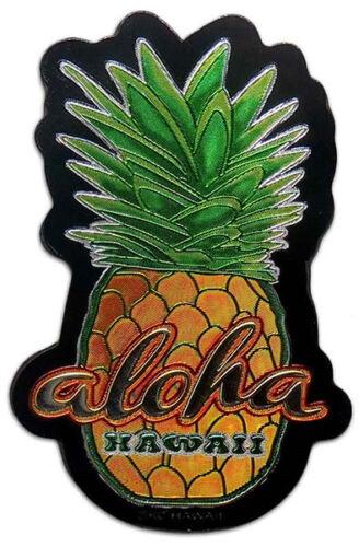 Hawaiian Magnets Pineapple Aloha Islands Hawaii Foil Stationary Gifts Souvenir N