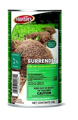 Martin's Surrender Fire Ant Killer, Acephate 75, Insecticide, Easy 1 lb - Fire Ant Killer