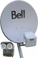 BELL TV HD SATELLITE DISH BRAND NEW ASSEMBLED READY TO GO