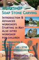 Workshop Soap stone and Tools and  Soap Stones