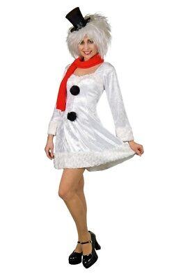 FM - Damen Kostüm Schneemann Kleid Schal Karneval - Schneemann Kostüm Damen