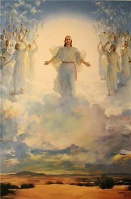 Harry Anderson SECOND COMING OF JESUS CHRIST 36x24 canvas Christ's 2nd Return