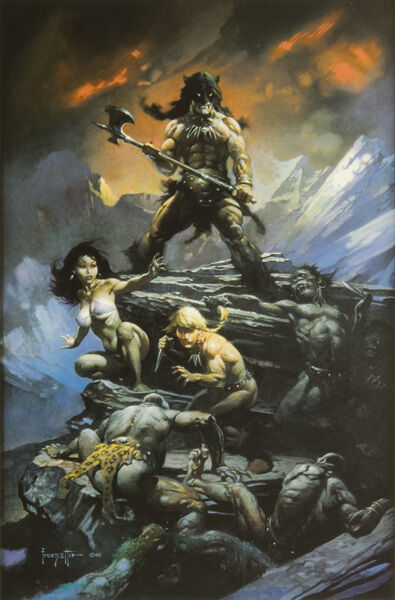 """Authentic Frank Frazetta Print """"FIRE AND ICE"""" #132  16 x 24"""""""