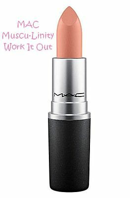 New M·A·C Muscu-Linity Musculinity Work It Out Lip Stick Lipstick Soft Brown