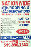 YOUR ROOFING EXPERTS BEST RATES ON REPAIRS AND WINTER RATES