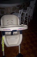 Chaise haute Graco Double tray
