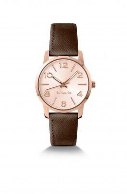TAMARIS Uhr Lara B10212020 12 Stunden Zifferblatt mit Lederarmband rose-farbig