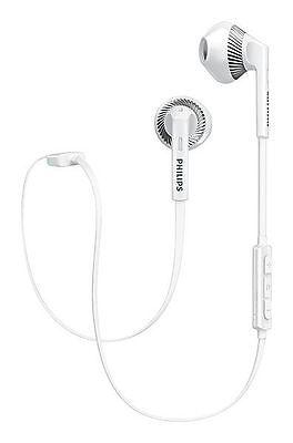 Philips SHB5250 White MyJam FreshTones Wireless Bluetooth Headphones with Mic