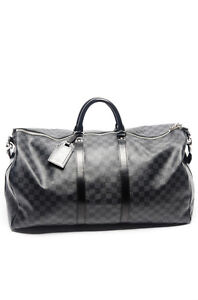 Brand New Louis Vuitton Damier Travel Duffle Money Leather Bag