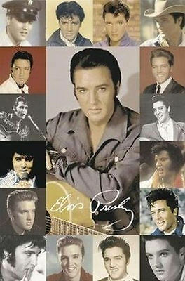 ELVIS PRESLEY - PHOTO COLLAGE POSTER - 24x36 SHRINK WRAPPED THE KING MUSIC 1385