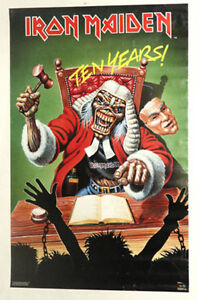 IRON MAIDEN JUDGE POSTER FROM 1990 VINTAGE