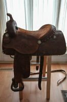 All original Price McLauchlin Saginaw Texas Western Saddle