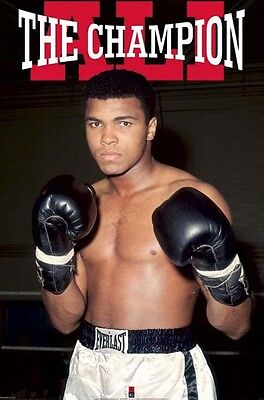 MUHAMMAD ALI CHAMPION 24x36 poster GREATEST BOXING PEOPLE'S