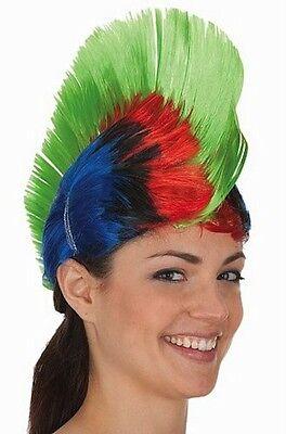 Multi Color Mohawk Hair Wig Punk Rocker Hairstyle Halloween Cosplay Rock Green (Halloween Hairstyles)