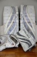 Canadian Made Bauer RX10 LE Pads/Glove/Blocker