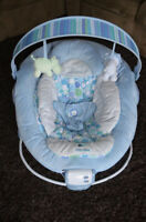 Bright Starts Comfort & Harmony Baby Bouncer - Blue