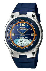Casio AW82-2A Men's Analog Digital Chronograph Alarm Fishing Gear Sports Watch