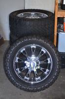 "4 Mickey Thompson 20"" Tires with Chrome rims"