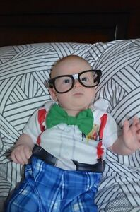 6-12 month Nursery Nerd Halloween Costume